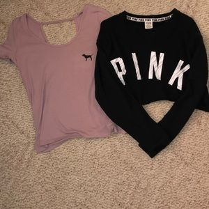 Victoria's Secret Pink Shirt/Sweatshirt Bundle